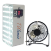 LED Light with Mobile Charger and Fan TULumen15-PB Fan