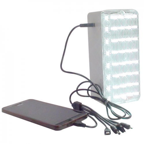 Solar Emergency Led Light With Mobile Charger