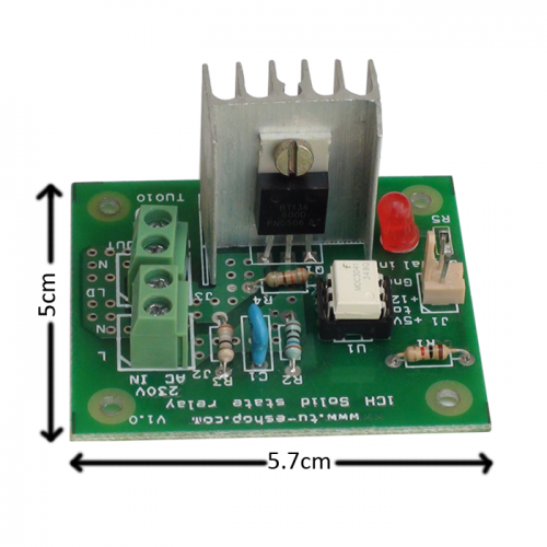 single channel solid state relay 230vac 4 16a 5 12v dc