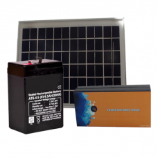 Versatile Solar Battery Charger  for 4/6V battery With Solar Panel and Battery