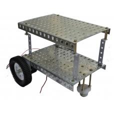 68 part Tri-wheel Robot Vehicle Chassis Kit