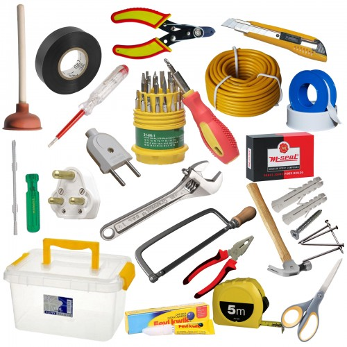 21 In 1 Home Repair And Home Improvement Tool Kit