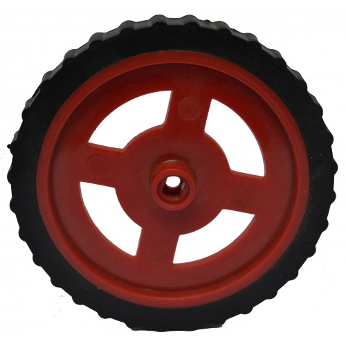 75 x 8 mm robot wheel and tyre for bo motor for Robot motors and wheels