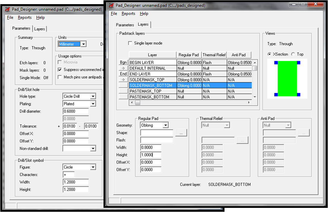 Designing component footprints using pcb editor 10 save the pad designed with an appropriate name biocorpaavc Choice Image