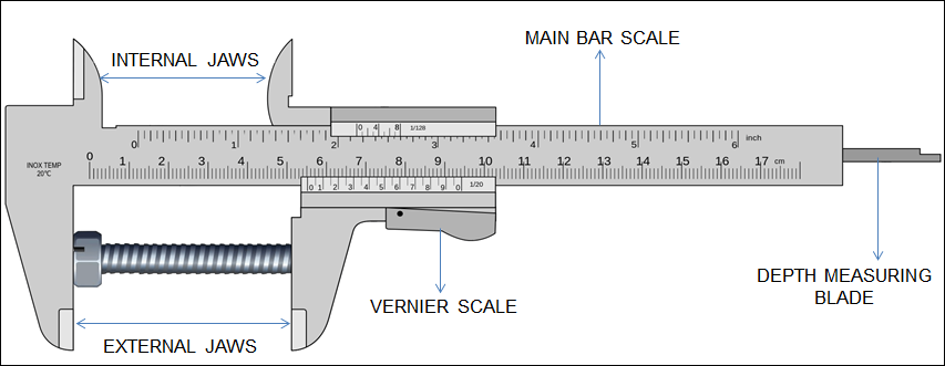 How to measure using metric Vernier caliper